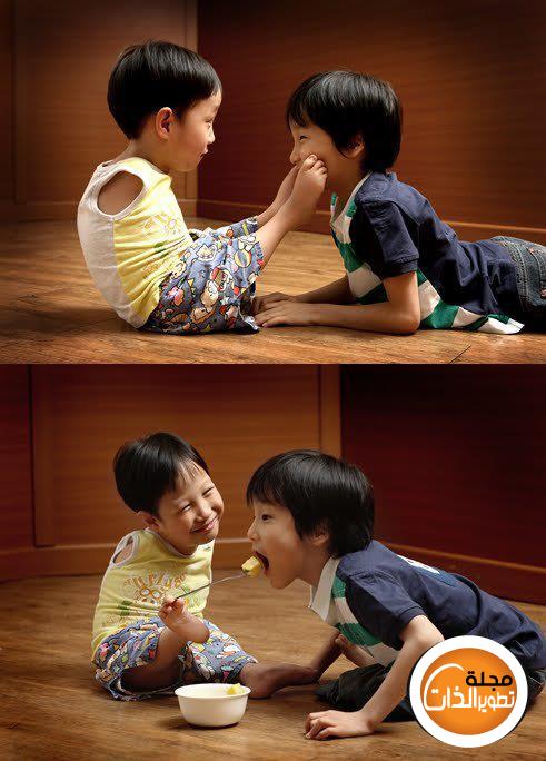 طفل كوري يملئه الفرح والأمل بالرغم من فقدانه ليديه kidssssssssss.png