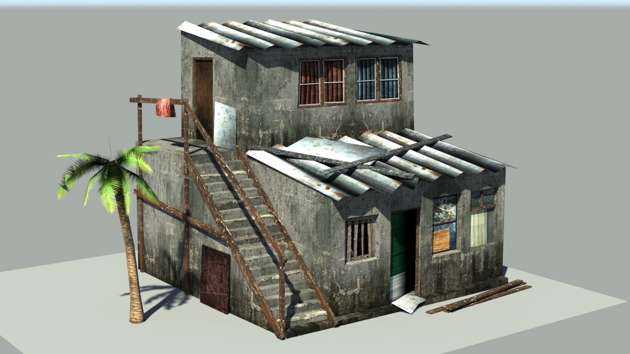 Low Poly Favela House Zach Zwart 3d