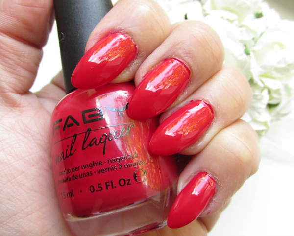 Review, Swatches: Faby Nail Laquer Red Reflex & Base&Top Coat