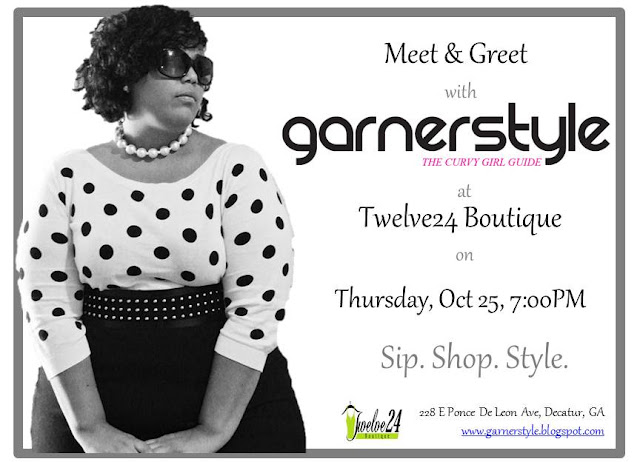plus size blogger, Garnerstyle at Twelve24 Boutique in Atlanta