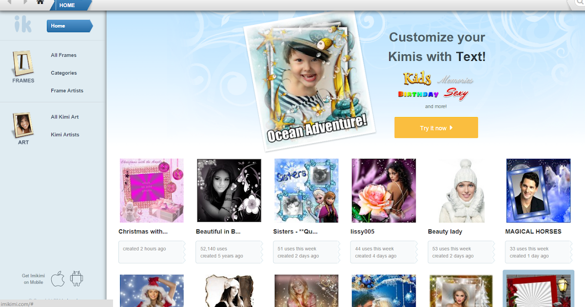 Imikimi.com photo editing tools : Customize Kimis with Text Kids ...