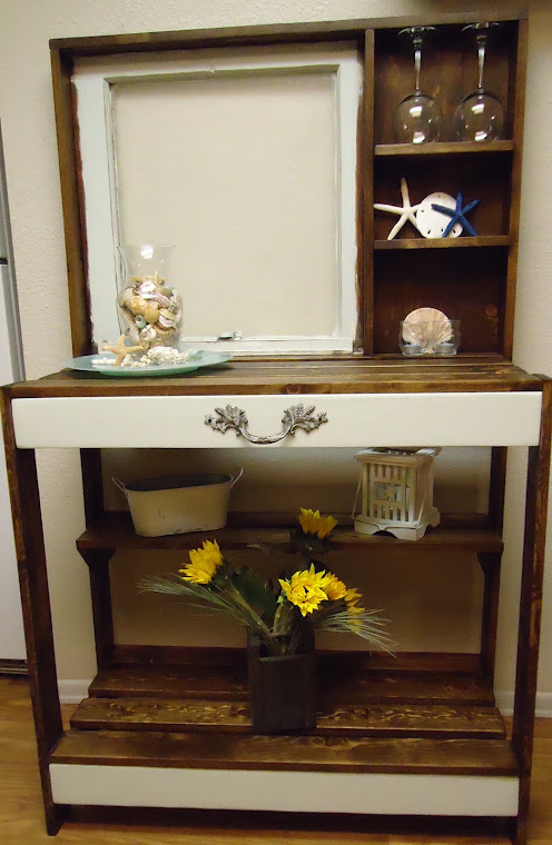 Vintage Window Table and Hardware-SOLD