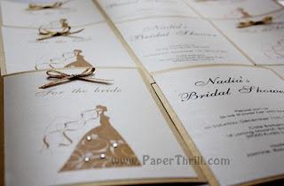 bridal shower handmade card