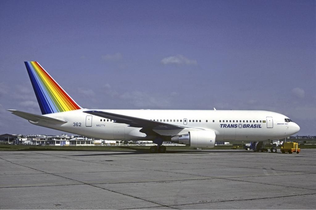 As famosas Companhias aéreas do passado BOEING+767+TRANSBRASIL