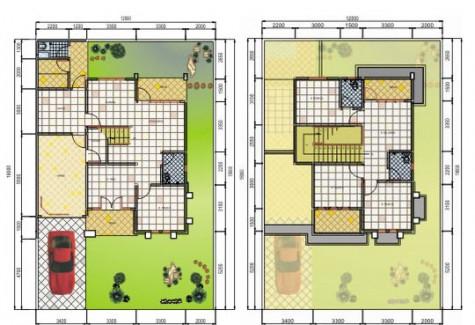 rumah minimalis 1 lantai on Denah Rumah Minimalis 2 Lantai Terbaru