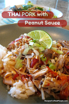 Thai Pork with Peanut Sauce Slow Cooker Recipe - Easy and delicious!