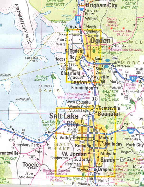 Online Maps Salt Lake City Area Map
