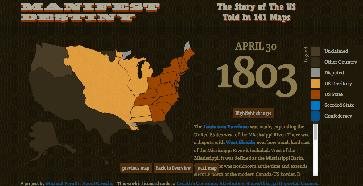 Free Technology For Teachers Manifest Destiny In Interactive Maps - Us map interactive free
