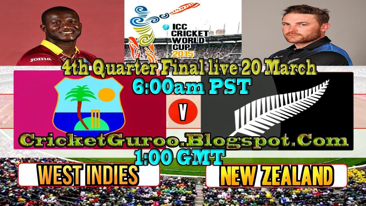New Zealand Vs West Indies, 4th Q.F (WC2015)