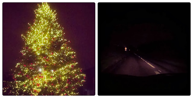 Christmas tree and driving in the dark