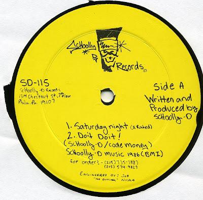 Schoolly D – Saturday Night (VLS) (1986) (320 kbps)