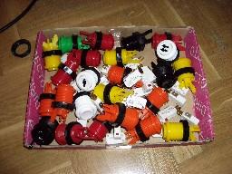 Los coloridos botones de la maca.