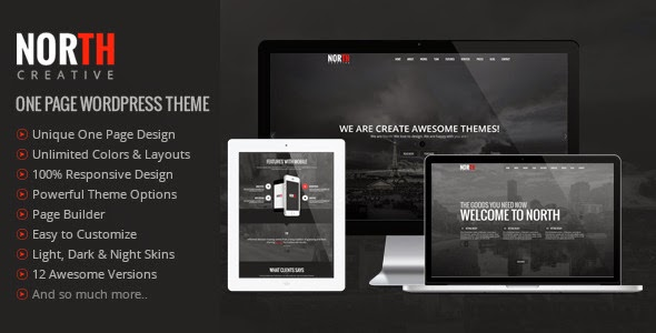 North One Page Parallax WordPress Theme Download Free [Version 2.1.1]