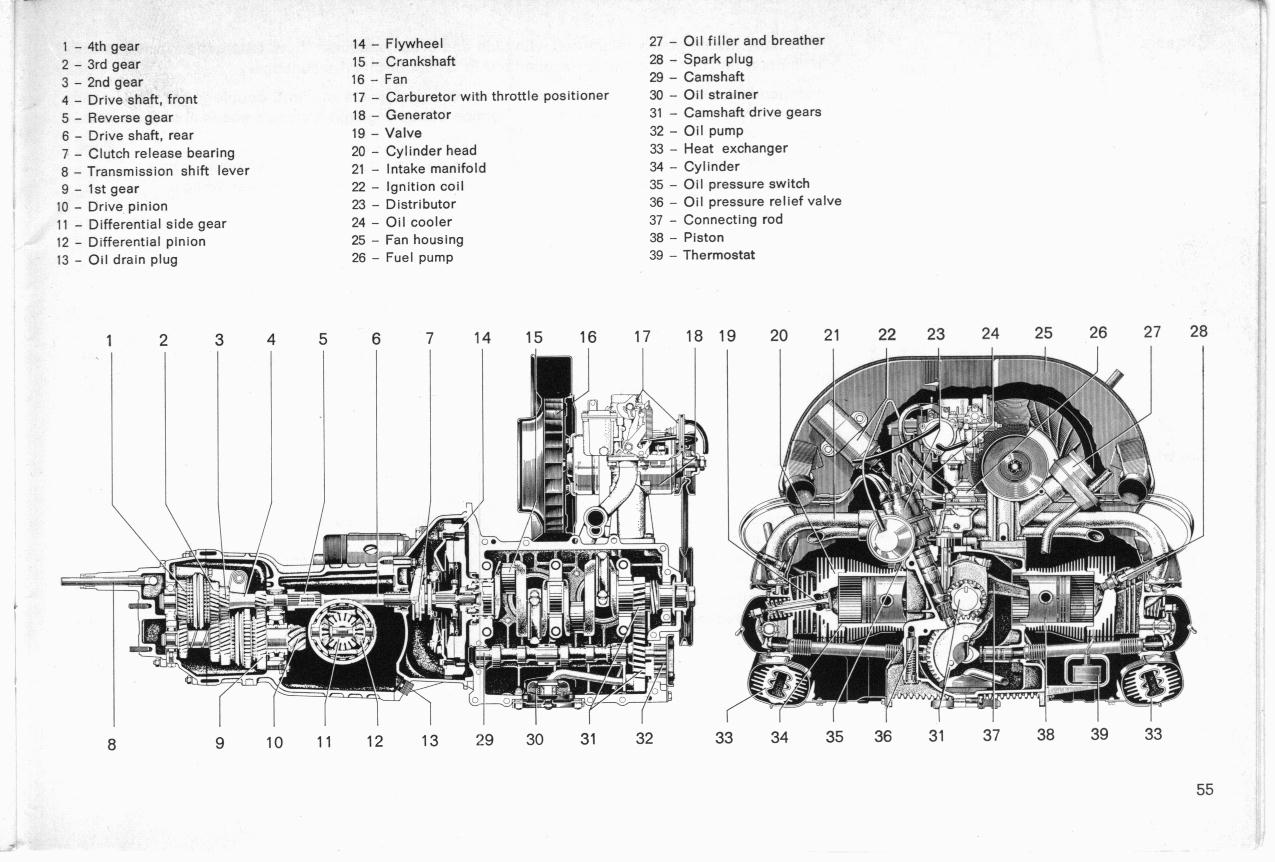 air cooled vw engine exploded diagram bus engine parts