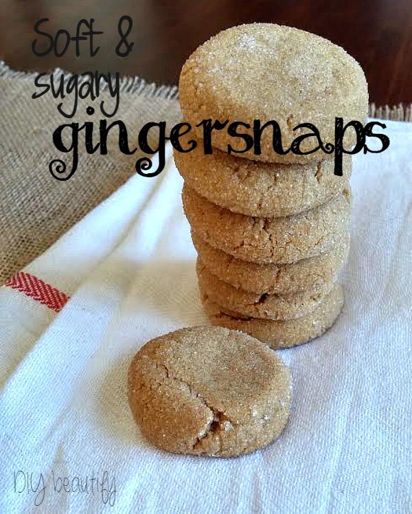 homemade gingersnaps