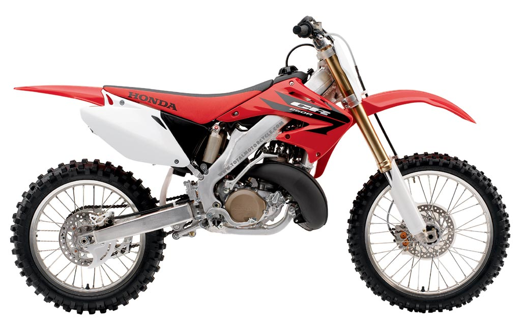 The bike which is named the Denim Demon is based on a Honda CR250 above