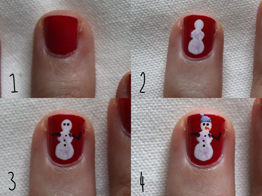 It really ain't Christmas until you have a mini snowman painted on your  finger nails now is it… - Snowman Nail Art Tutorial - Dinosaur Dances
