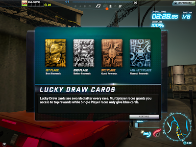 Need For Speed World - Lucky Draw Cards