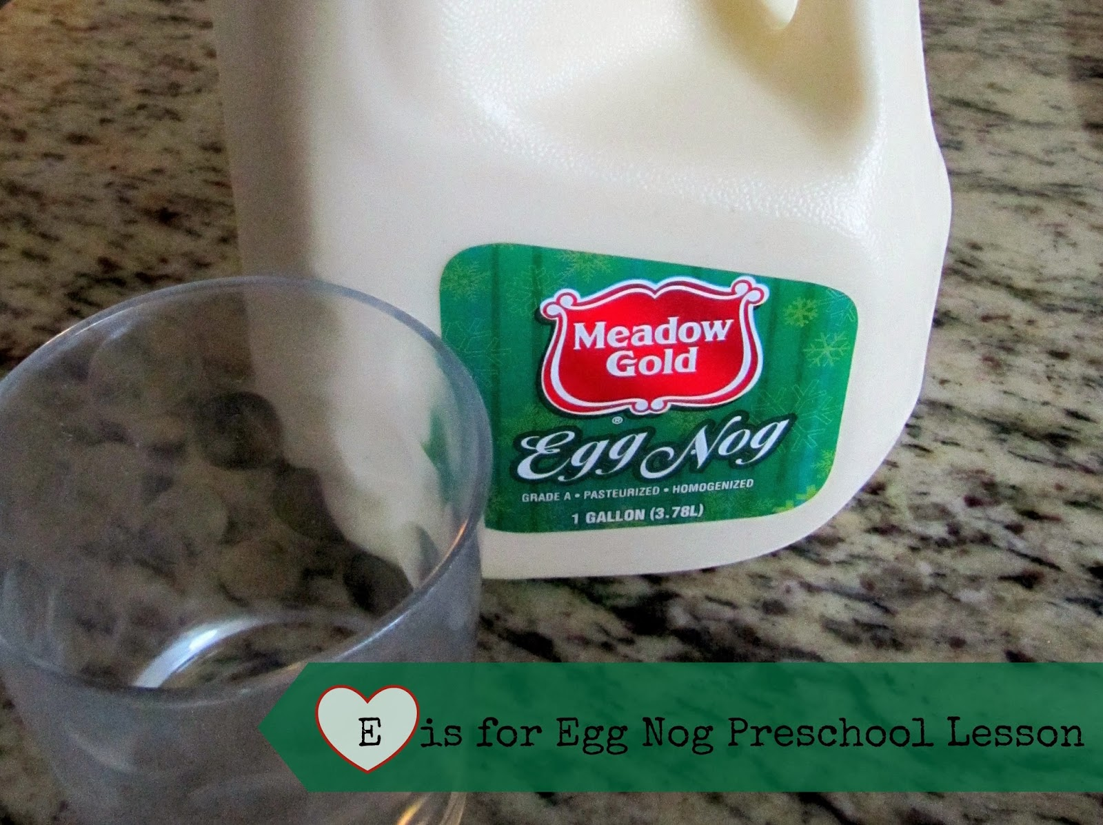 Pinning With Purpose E Is For Eggnog Preschool Lesson