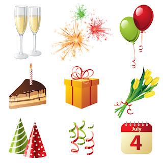 新年とクリスマスに因んだアイコン・素材 Cartoon Christmas badges イラスト素材1