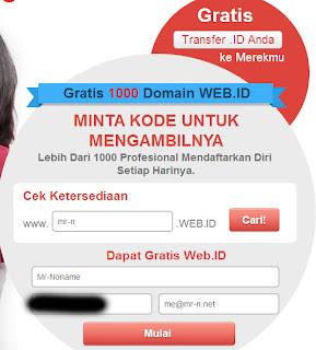 Domain Gratis .WEB.ID [dot]web[dot]id