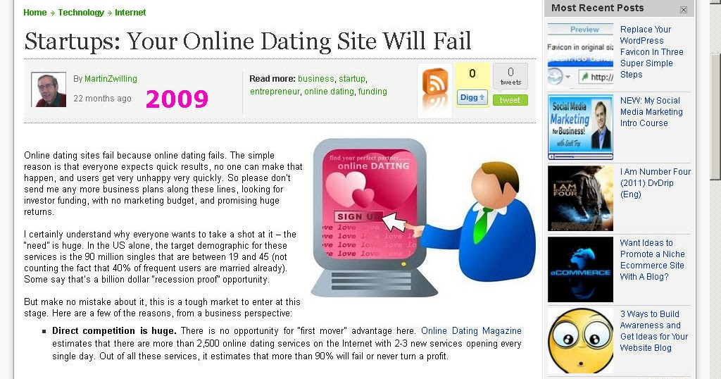 When dating sites fail