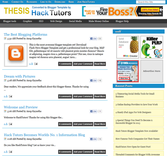 Thesis Template - SEO Friendly Template by Hack Tutors