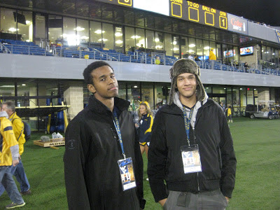 Izaiah Fuller and Derek Kief unofficial visit to WVU game