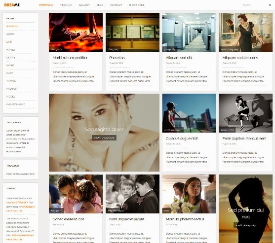 Dreame Responsive WordPress Theme