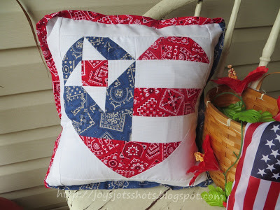 old glory star pillow