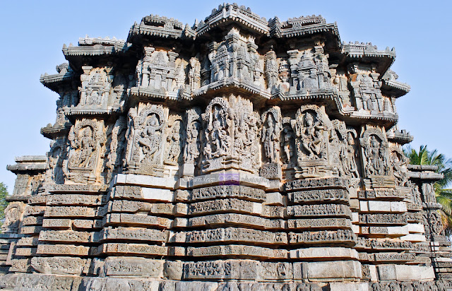 Star shaped structure of the Kedareshwara Temple