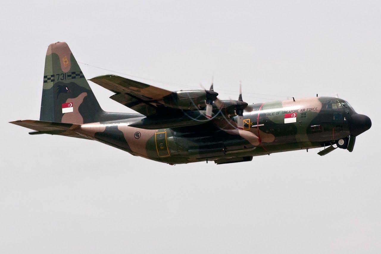 Republic of Singapore Air Force (RSAF) Lockheed C-130H Hercules (L-382). Tail 731 (cn 4844)