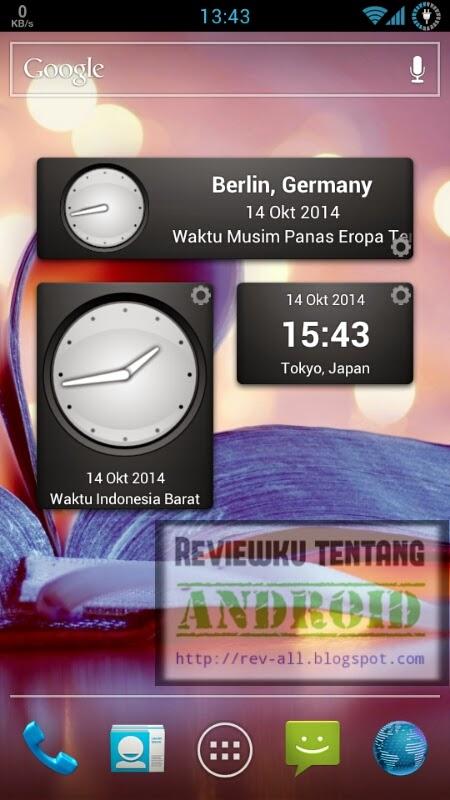 3 jenis widget aplikasi PERFECT WORLD CLOCK - aplikasi android jam dunia dan memiliki widget (rev-all.blogspot.com)