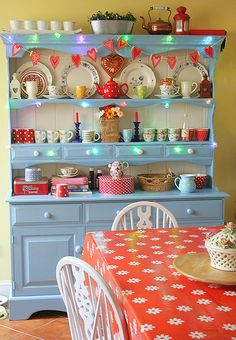 blue Welsh dresser