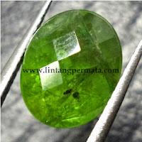 Batu Permata Natural Garnet Hijau