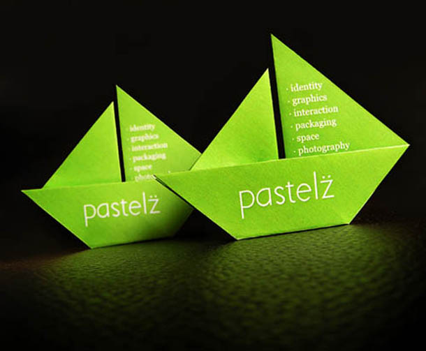 Cartões de visita criativos - Pastelz - Design