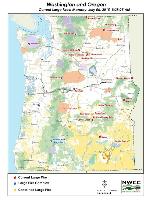 Northwest Interagency Coordination Center: 7/6/2015 OR & WA Large