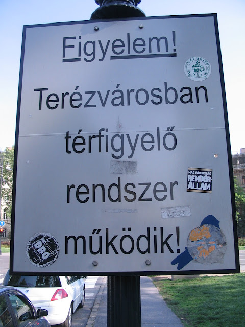 Security 861, Radio Bro, Budapest, matrica, street art, térfigyelő rendszer, Magyarország, Hungary