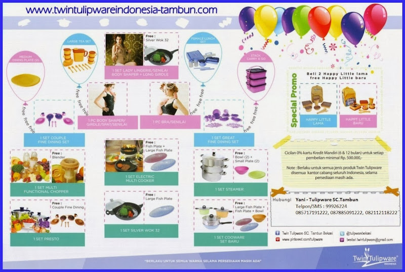 Promo 1 Free 1 & Berhadiah Tulipware Januari - Februari 2014