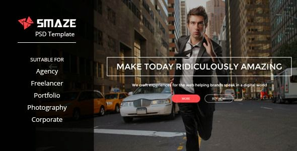 Smaze - Multipurpose PSD Template
