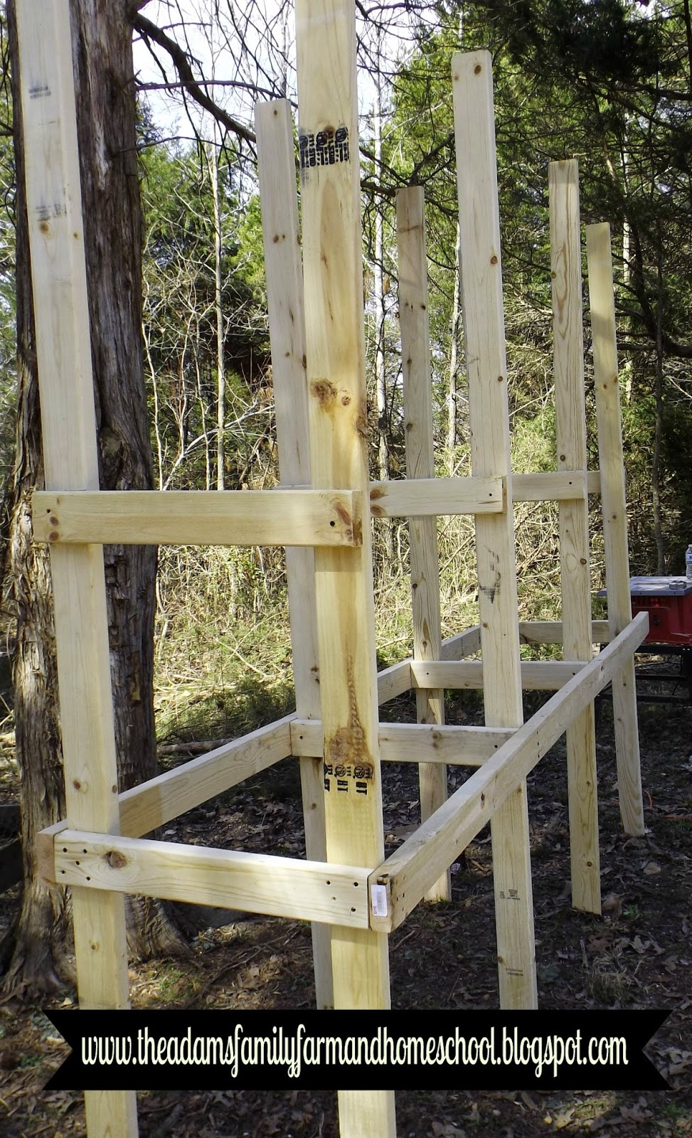 Building Frame of Rabbit Cage