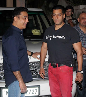 Salman Khan at the screening of Kamal Haasan's Vishwaroopam!