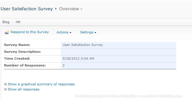 sharepoint survey hide all responses