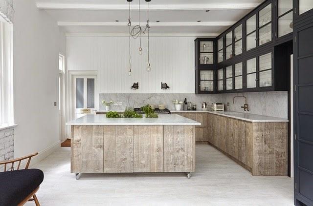 kitchen island on wheels in stylish design