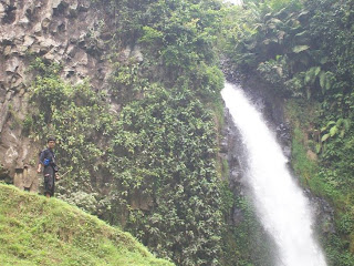 Try rock climbing in curug sikopel