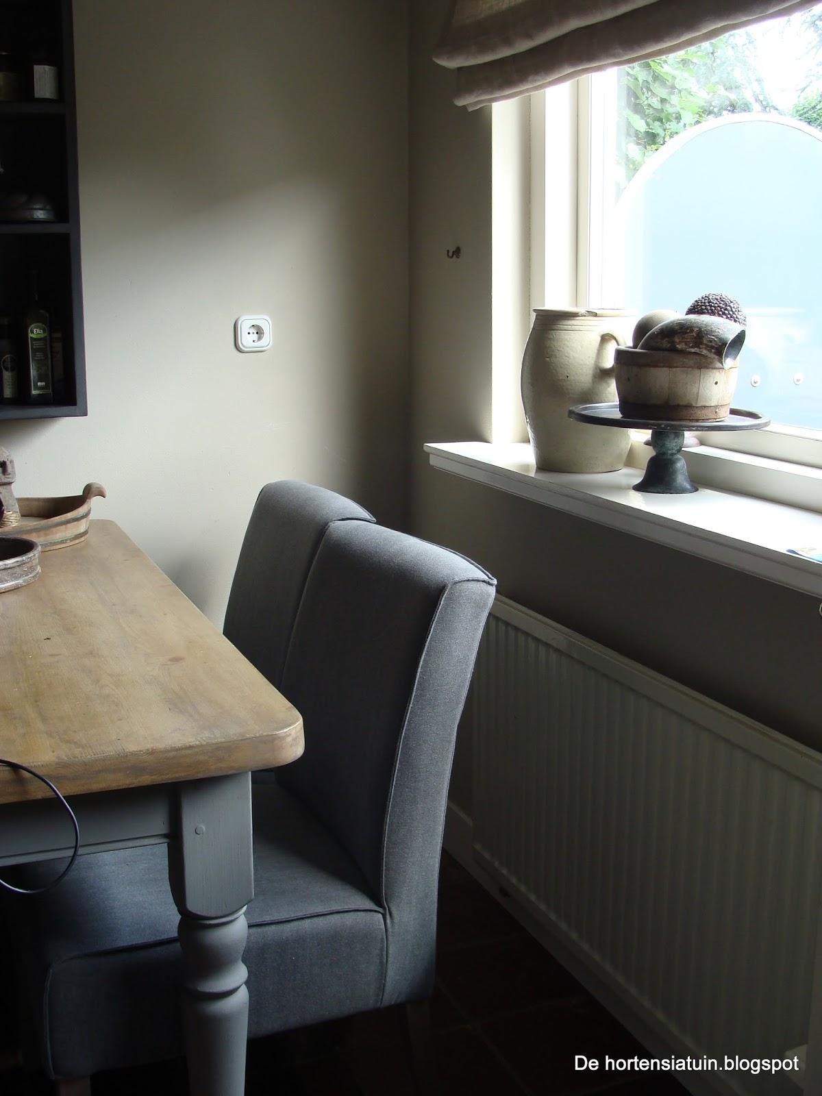 Eikenhouten Keuken Behandelen : De hortensiatuin: De nieuwe stoelen zijn binnen