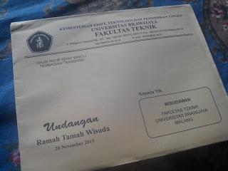 Undangan Ramah Tamah Wisuda Fakultas Teknik Universitas Brawijaya