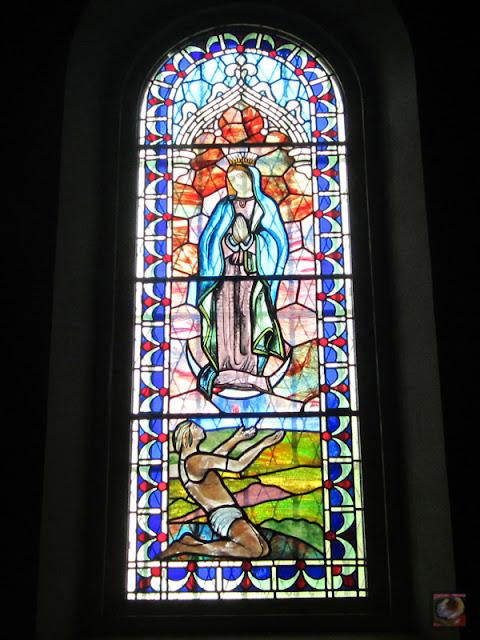 Iglesia de Santa María en Amurrio. Vidriera.