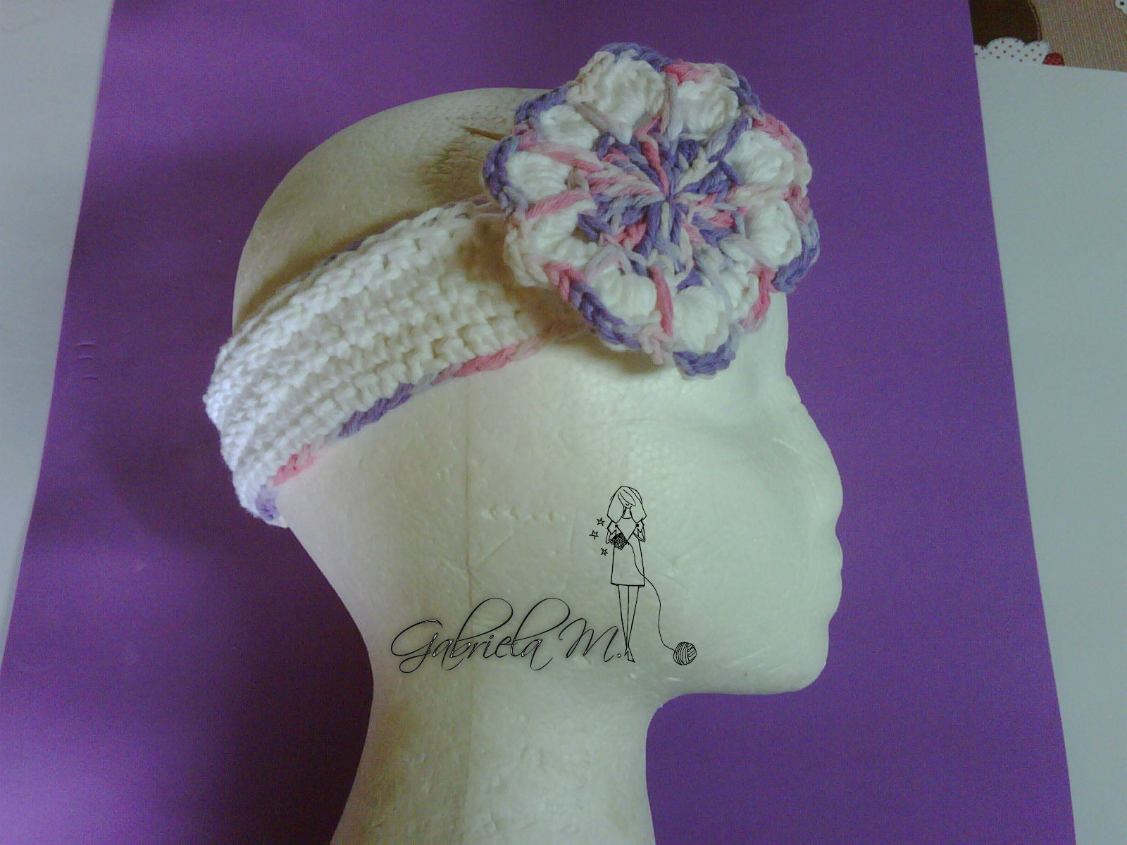 Diadema vintage paso a paso