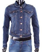 Geaca Bershka Dama Blue Jeans (Bershka)